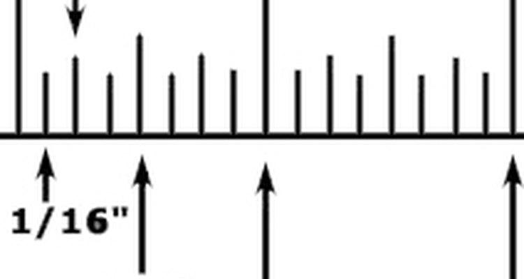 Nos Estados Unidos, a unidade de medida é em polegadas