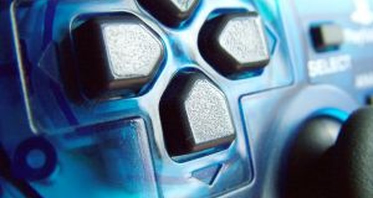 Close up of a PlayStation 2 controller