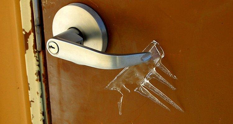 Replacing an exterior door handle is easy.