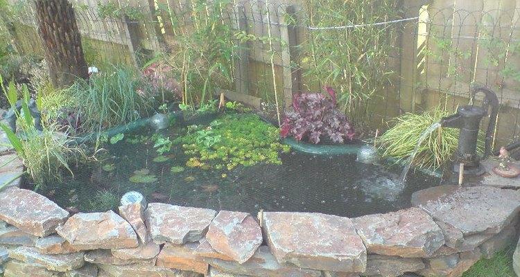 A lovely preformed garden pond