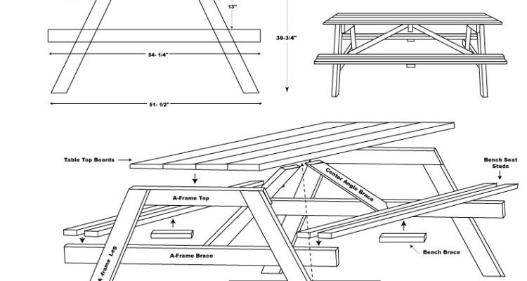 Picnic table assembly diagram
