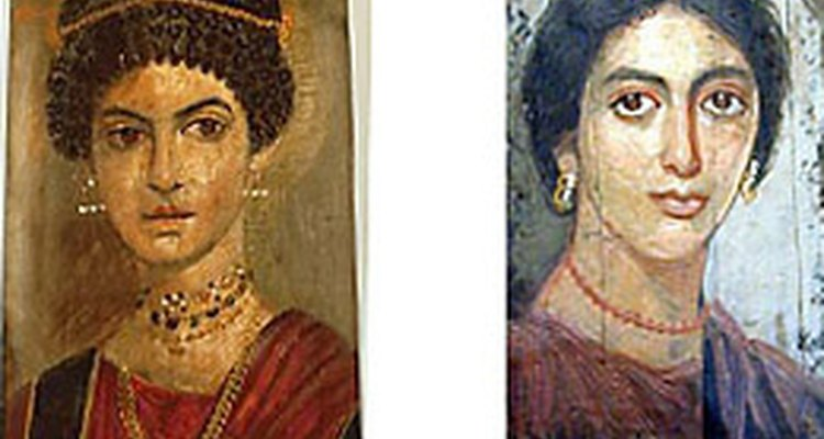 Death portraits on caskets of wealthy Roman women