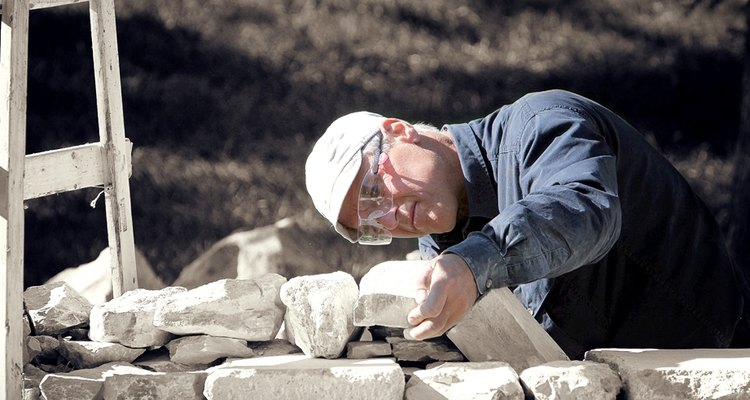 Snow, a Vermont native, working with stone in Kansas.