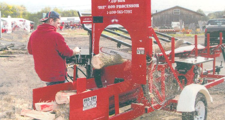 Commercial firewood processor