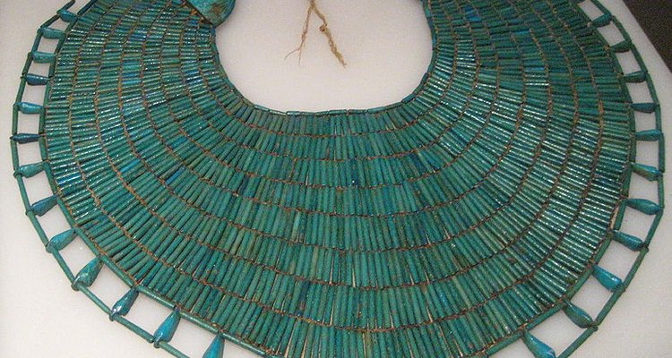 This broad collar is typical of ancient Egyptian jewellery.