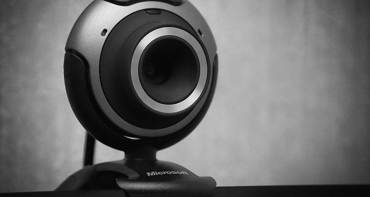 Una barata cámara web para consumo puede usarse para la seguridad doméstica.