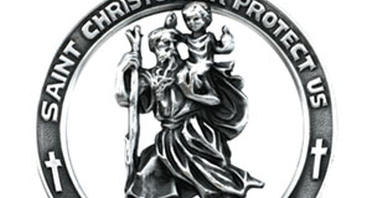 St. Christopher was the patron saint of travellers.