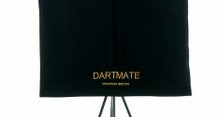 A portable dartboard stand