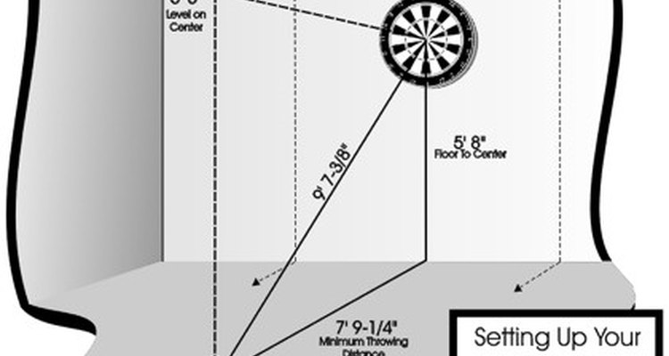 How to set up a throwing area for darts