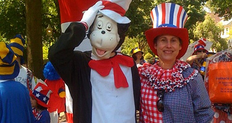 Cat in the Hat with a fan