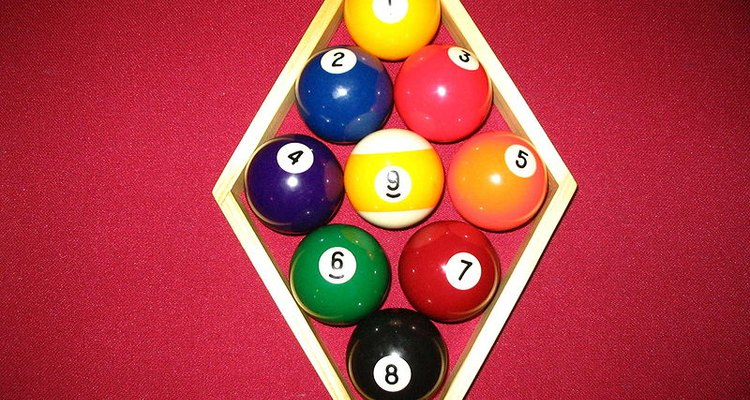 Nine-ball racks must have the one ball at the top and the nine ball in the middle.