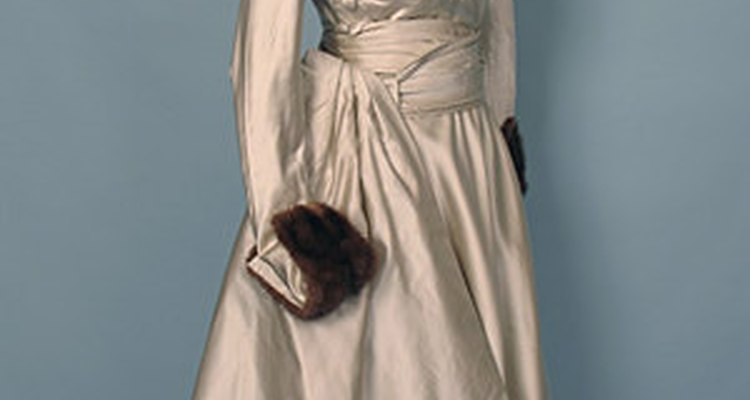 A satin dress from the past