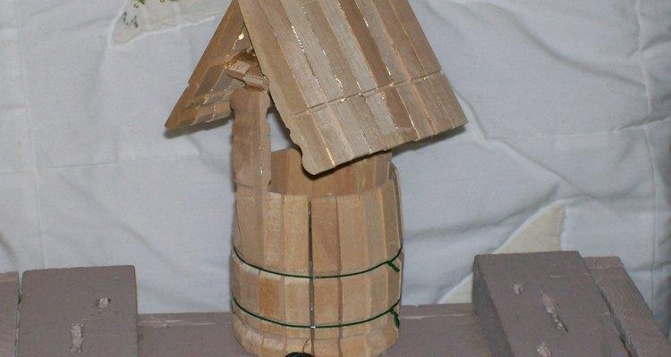 wooden wishing well