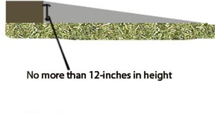 Direct pours are for landings lower than 12 inches.