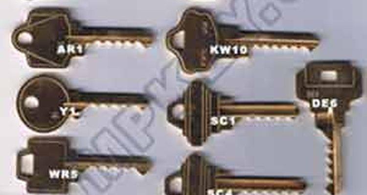 Conjunto de chaves mixas que podem abrir todas as fechaduras normais de múltiplos pinos no mercado