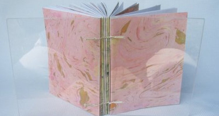 Marbled papers can be used in book binding.