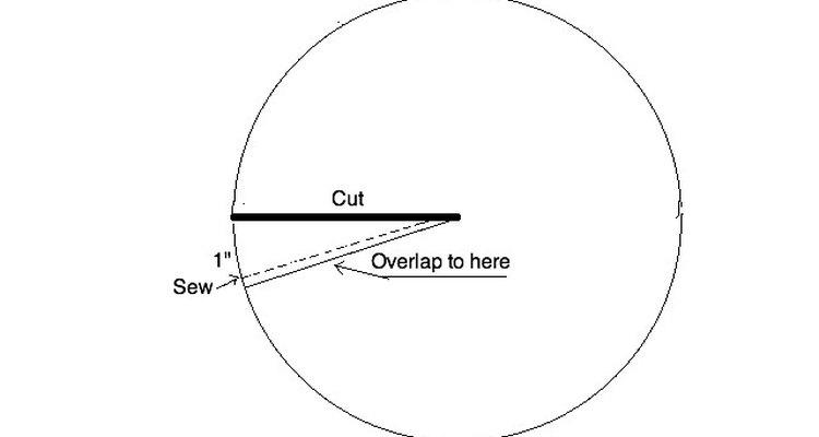 Medindo, cortando e costurando seu kipá