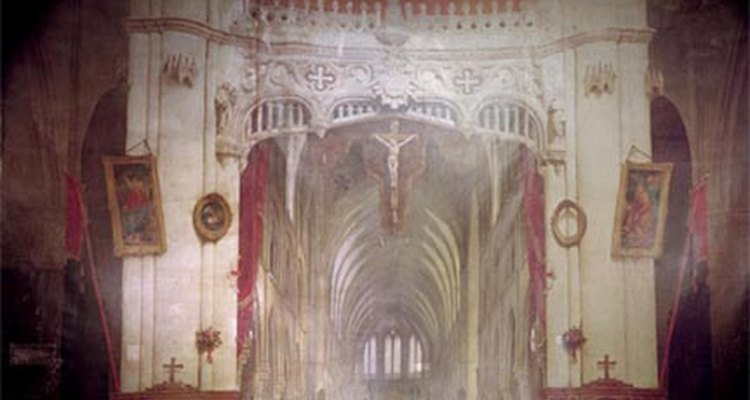 One of Daguerre's dioramas in the church of Bry-sur-Marne