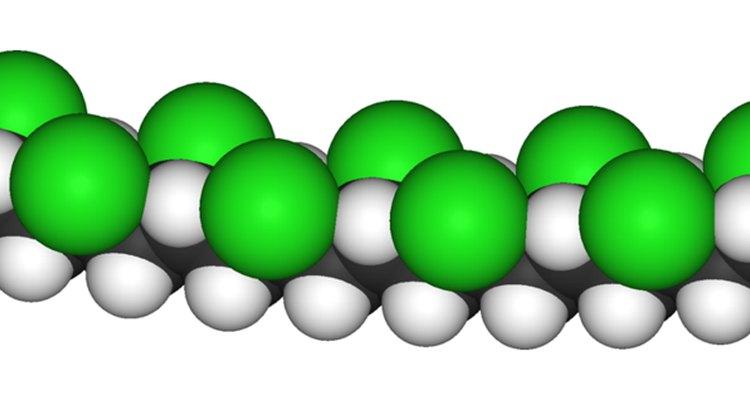 La estructura molecular del PVC, uno de los materiales más populares usados en los trajes de sauna.