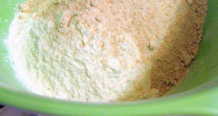 Masa de harina en forma de círculo.