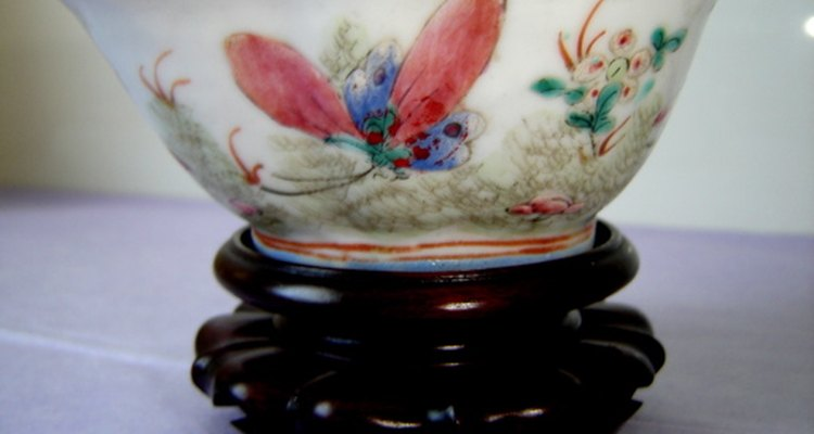 This ceramic bowl is thought to date back to the Qing Dynasty.