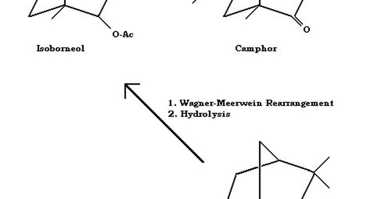 Camphene to Isoborneol to Camphor Overall Reaction Schematic