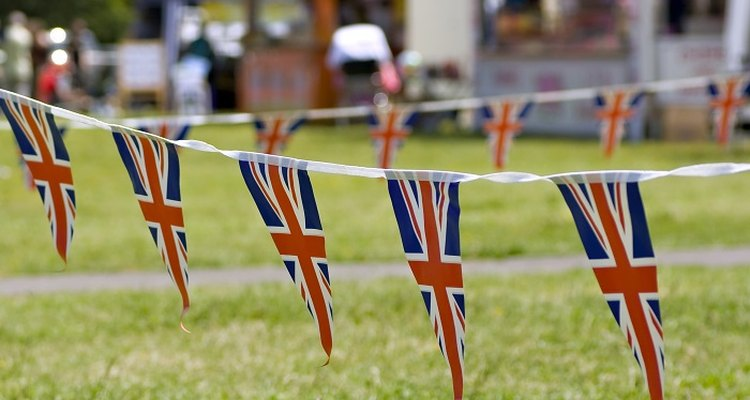 Create bunting by stringing together several paper flags or pennants.