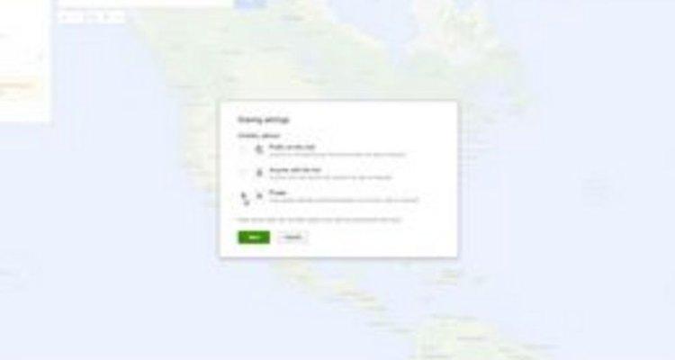 Torne seu mapa público ou privado