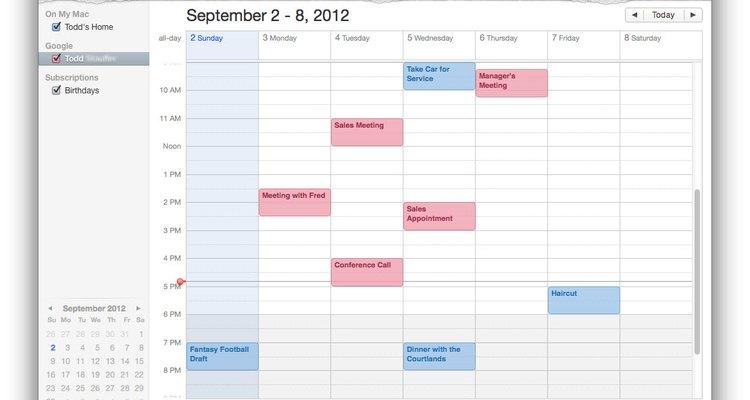 Se algo for adicionado ao calendário do Mac, ele vai sincronizar com o Google na nuvem e vice-versa