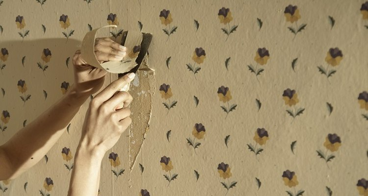 After you remove the wallpaper you may also have to remove the paste.