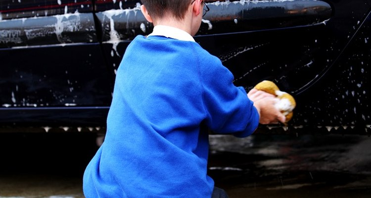 Let your child make pocket money washing your car.