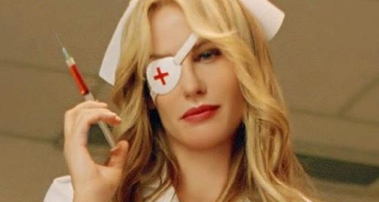 Use accessories to complete Elle Driver's sinister nurse look.