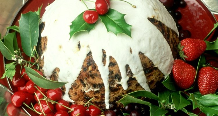 Steam Christmas pudding inside a pressure cooker to make it quickly.