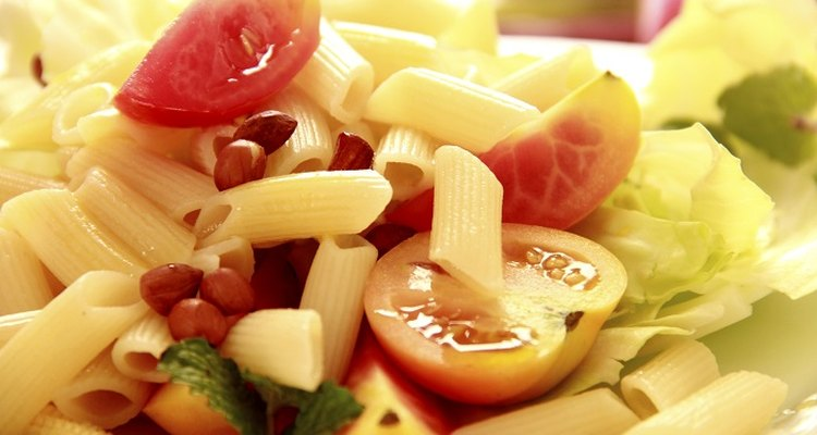 Penne pasta is easily cooked in boiling water.