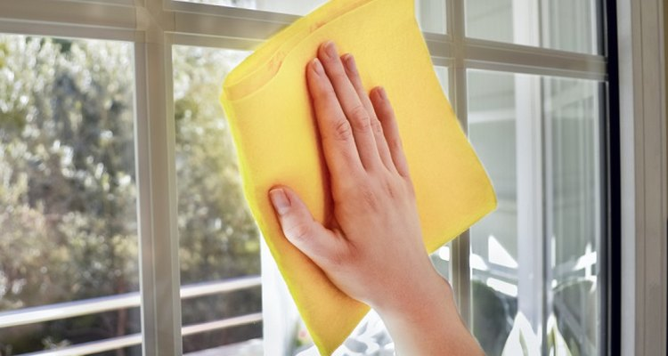 Soap and water will make your windows sparkle.