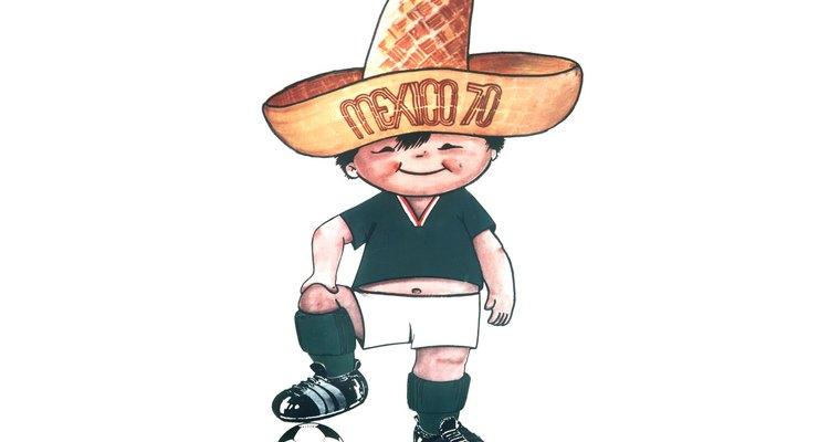 A Copa de 1970 trouxe um menino vestindo uma camisa típica do México