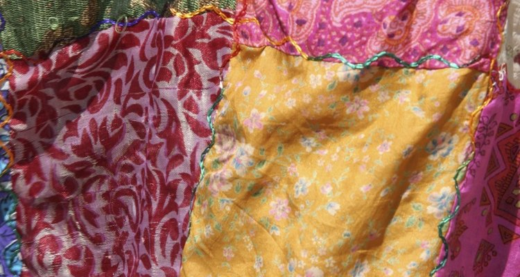 Patchwork clothing is a classic part of the hippie look.