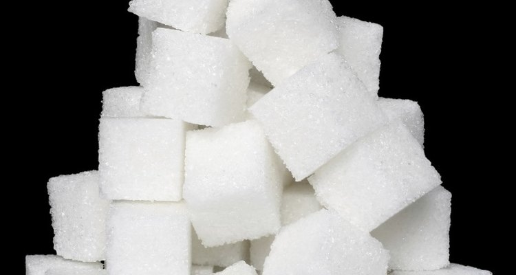 Sugar cubes are easy to build with.