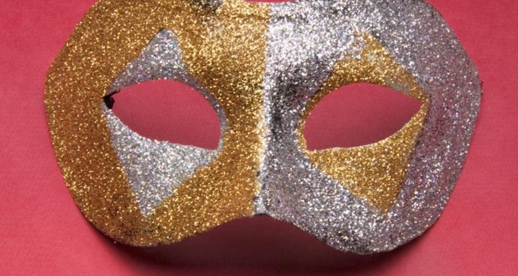 Use your creativity to fashion a masquerade mask.