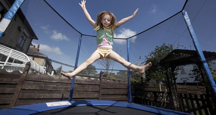 A hole in a trampoline mat can be dangerous for little feet.