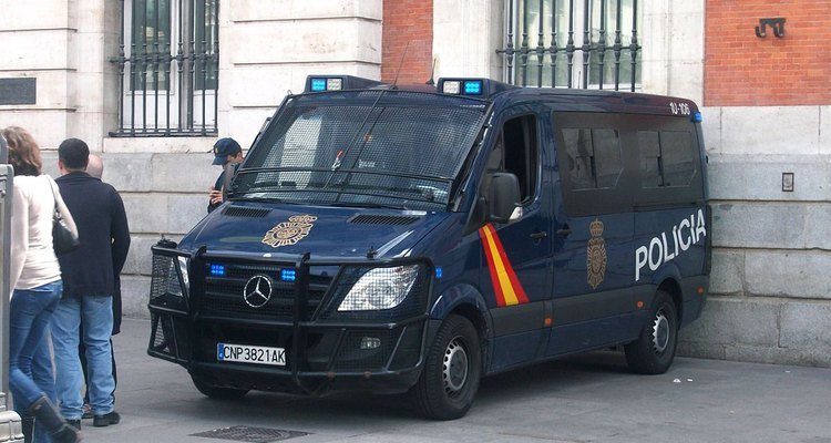 A Mecedes-Benz Sprinter operated by the Spanish police.