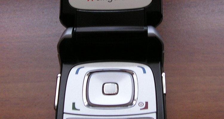The Nokia 6102i flip phone.