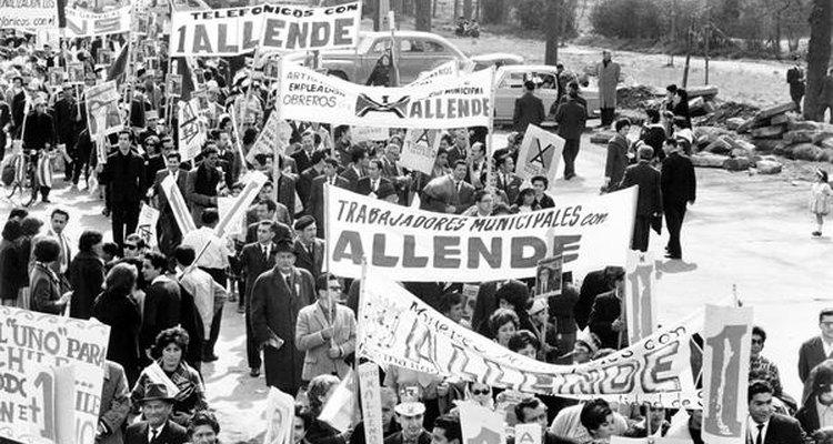 Partidarios de Salvador Allende.