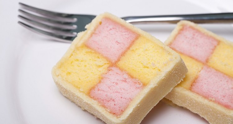 Marzipan gives Battenburg cakes its distinctive flavour and texture.
