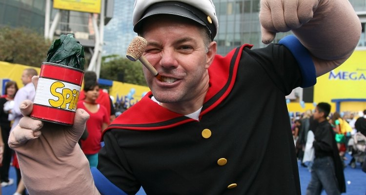 Spinach can be used to round out your Popeye costume.