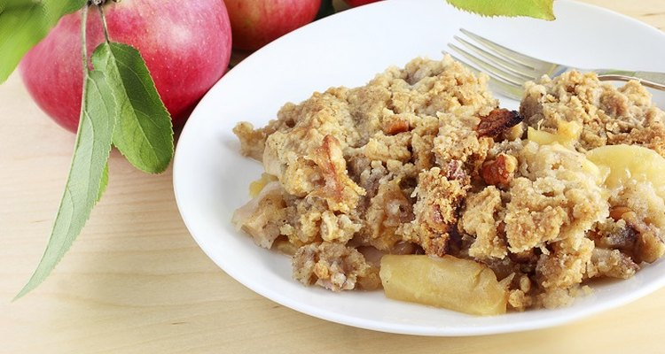 Your apple crumble will last for months if you freeze it after baking.