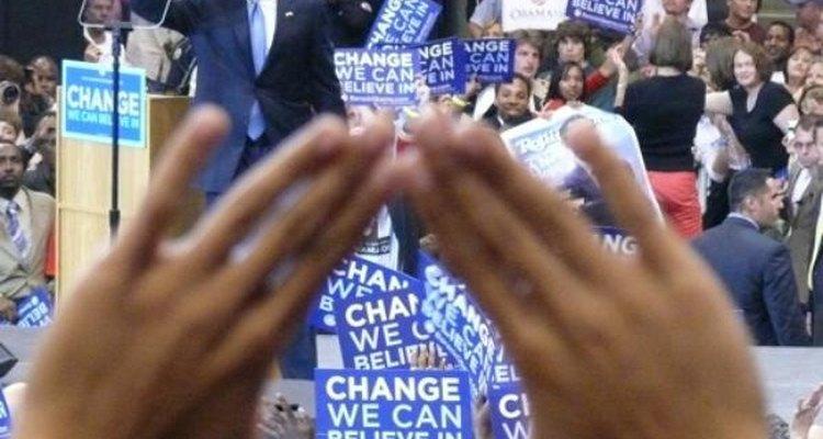 Seguidores de Obama durante su discurso en Oregon.