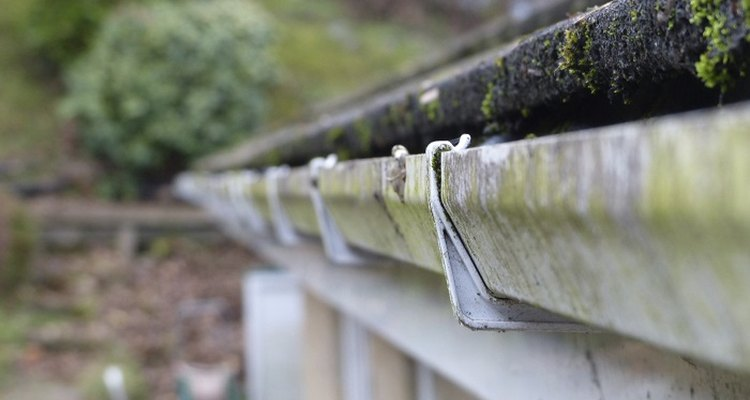 Rain gutters must slope slightly to prevent water from pooling.