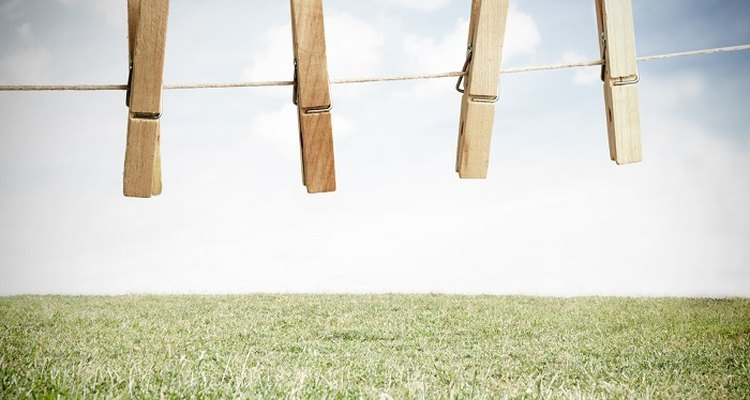 Tighten up loose washing lines to prevent clean clothes from scraping the ground.