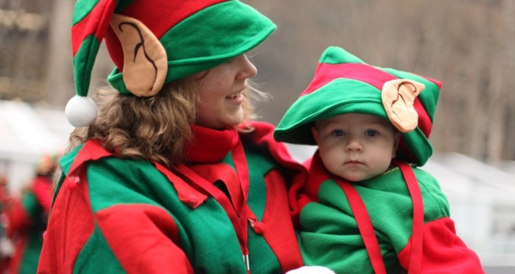 Dress up like Santa's little helper when you make homemade elf costumes.